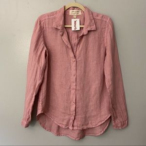 NWT Cloth & Stone Long Sleeve Linen Button Down